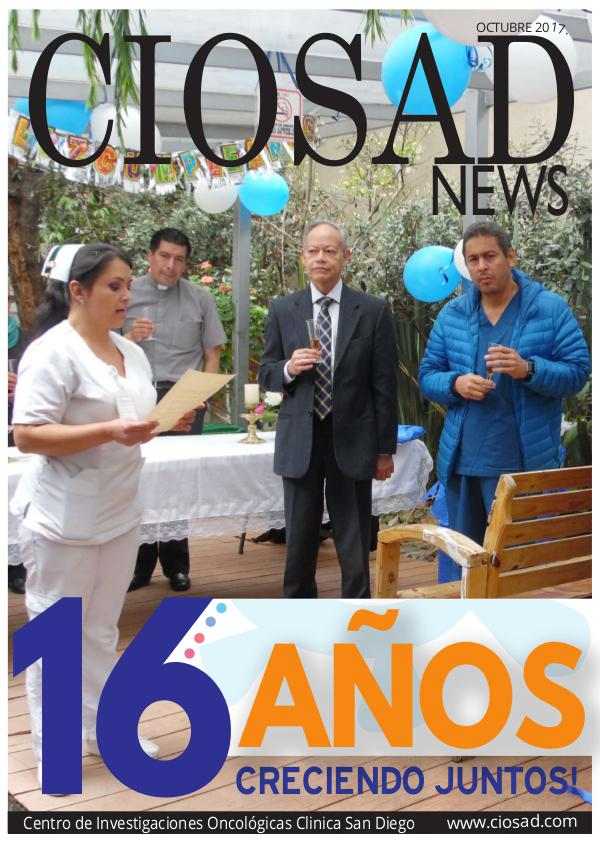 CIOSAD News CIOSAD News - EDICIÓN OCTUBRE 2017