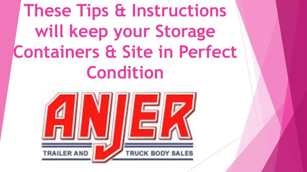 These Tips and Instructions will keep your Storage Containers and Sit Instructions will keep your Storage Containers and