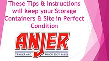 These Tips and Instructions will keep your Storage Containers and Sit