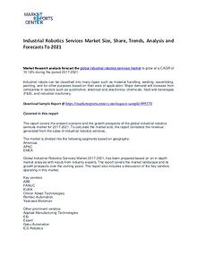 Industrial Robotics Services Market Size, Share, Trends and Analysis