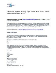 Automotive Daytime Running Light Market Growth, Price and Forecast
