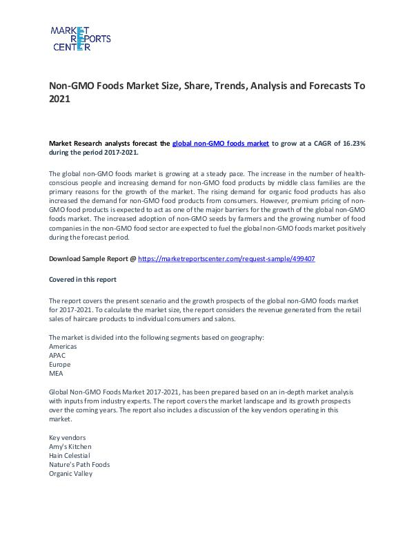 Non-GMO Foods Market Growth, Drivers, Strategies and Forecasts Non-GMO Foods Market