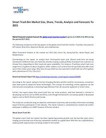 Smart Trash Bin Market Growth, Trends, Price and Forecasts To 2021