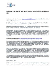 Maritime VSAT Market Growth, Trends, Price and Forecasts To 2021