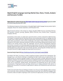 Digital English Language Learning Market Trends To 2021
