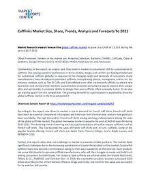 Cufflinks Market Size, Share, Challenges, Drivers and Forecast