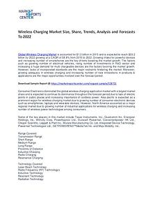 Wireless Charging Market Trends, Growth, Price, Demand and Forecasts