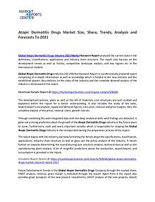 Atopic Dermatitis Drug Market Manufacturers, Region and  Application