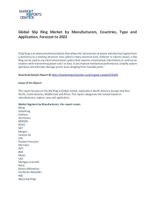 Slip Ring Market 2017-2022 Slip Ring Market 2017-2022