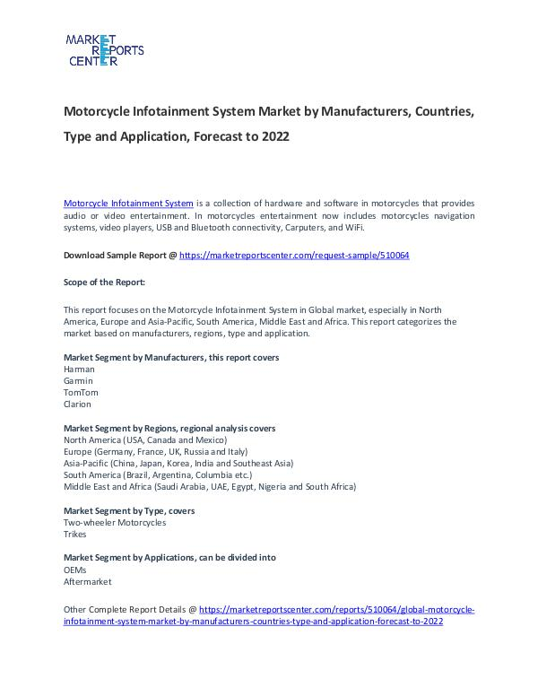 Motorcycle Infotainment System Market Motorcycle Infotainment System Market