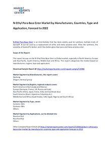 N-Ethyl Para Base Ester Market 2017: Industry trends and Forecast