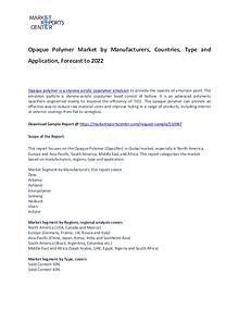 Opaque Polymer Market 2017: Industry trends and Forecast Report