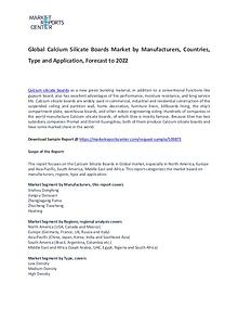 Calcium Silicate Boards Market Report Analysis To 2022