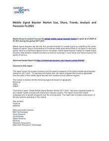 Mobile Signal Booster Market Size, Share, Growth, and Forecast