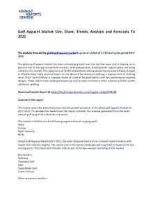 Golf Apparel Market Size, Share, Trends, Analysis and Forecasts