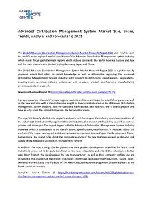 Advanced Distribution Management System Market Size, Share, Trends