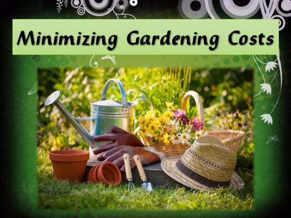 Minimizing Gardening Costs Minimizing Gardening Costs