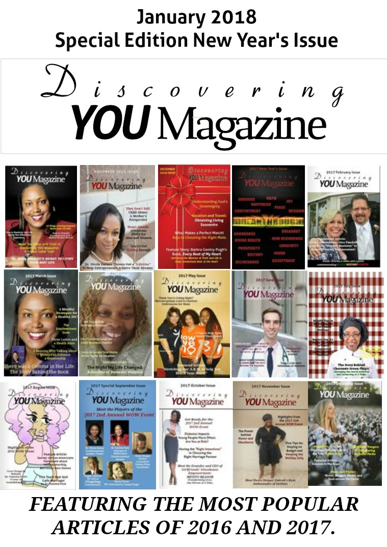 Discovering YOU Magazine January 2018 New Year Issue Special Edition