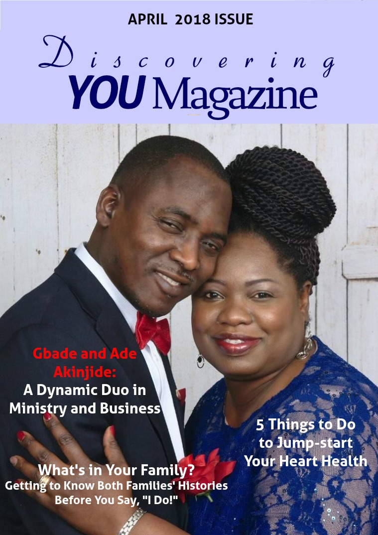 Discovering YOU Magazine April 2018 Issue