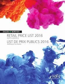 Daler Rowney Pricelist 2016