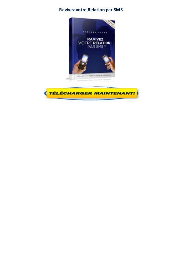 Ravivez votre relation par sms pdf avis gratuit