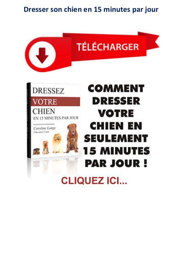 Dressez Votre Chien en 15 Minutes par jour pdf