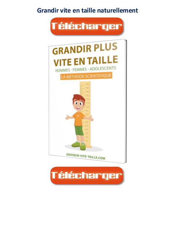 Grandir Vite En Taille PDF Avis Gratuit Livre