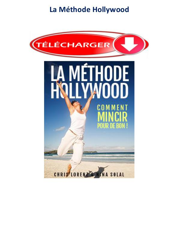 La Méthode Hollywood Pdf avis Mincir Chris lorenz