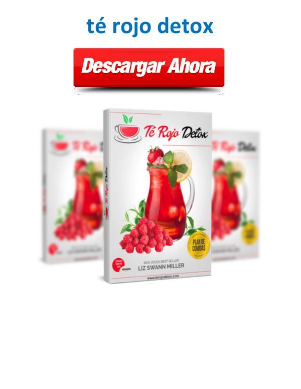 Libro PDF Té rojo detox PDF Descargar Gratis Libro Liz Swann