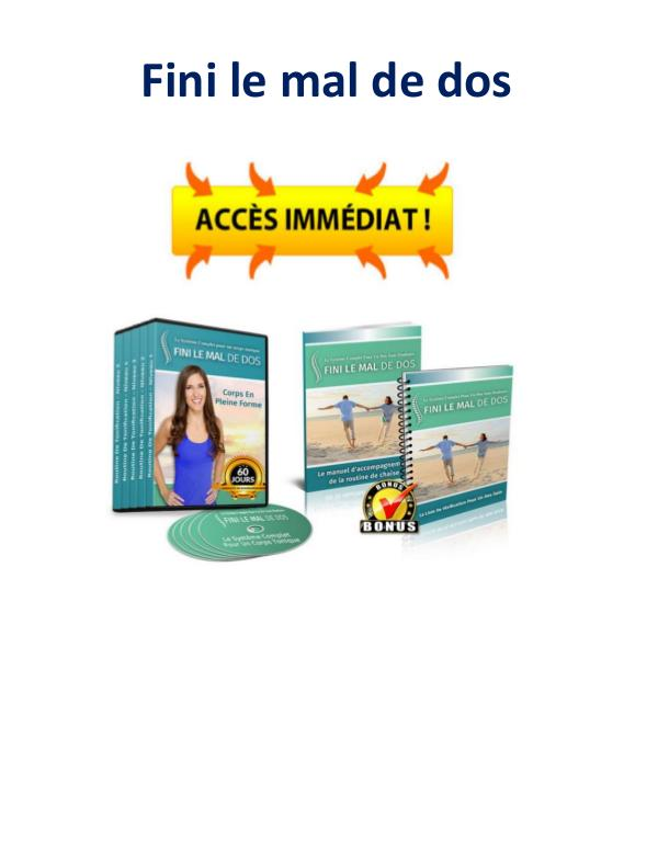Livre gratuit Fini Le Mal De Dos Avis Pdf Emily Lark