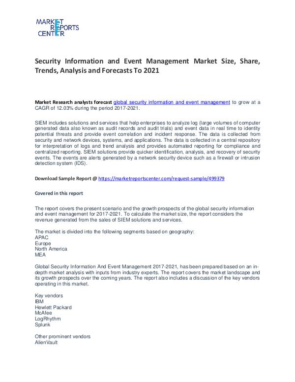 Security Information and Event Management Market Growth and Trends Security Information and Event Management Market