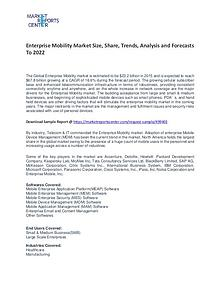 Enterprise Mobility Market Growth, Price, Demand and Forecast
