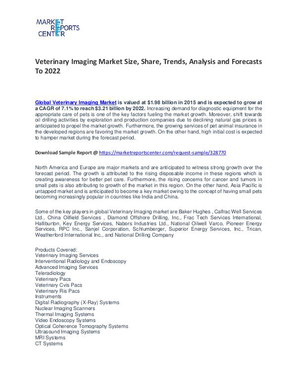 Veterinary Imaging Market Size, Share, Trends, Analysis and Forecasts Veterinary Imaging Market
