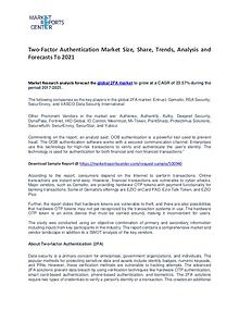 Two-Factor Authentication Market Growth, Trends, Price and Forecasts