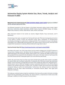 Automotive Display System Market Trends to 2021