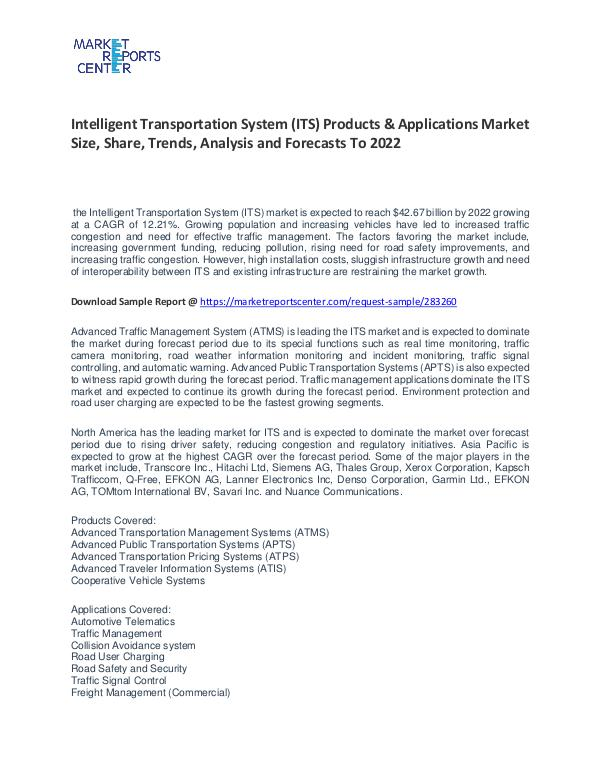 Intelligent Transportation System Market Size, Share and Forecast Intelligent Transportation System Market