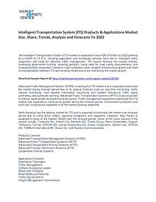 Intelligent Transportation System Market Size, Share and Forecast