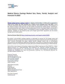 Medical Device Coatings Market Size, Share and Forcast