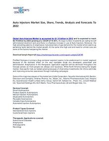 Auto Injectors Market Size, Share, Challenges, Drivers and Forecasts