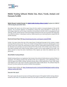 Mobile Tracking Software Market Research Report Analysis To 2021
