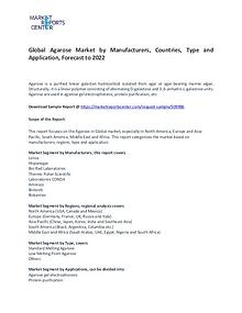 Agarose Market Research Report Forecasts To 2022