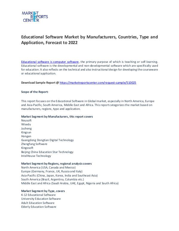 Educational Software Market Trends, Growth, Region and Forecast Educational Software Market