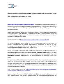 Power Distribution Cables Market 2017