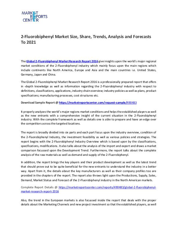2-Fluorobiphenyl Market Size, Share, Growth, Analysis and Forecasts 2-Fluorobiphenyl Market Size, Share, Growth, Analy
