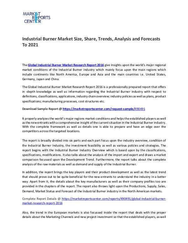 Industrial Burner Market Size, Share, Growth, Analysis and Forecasts Industrial Burner Market Size, Share, Growth, Anal