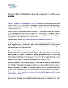 Polyolefin Catalyst Market Trend, Growth, Price, Demand and Forecasts