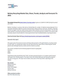 Battery Recycling Market Trends, Growth, Price, Demand and Forecasts