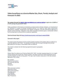 Video Surveillance as a Service Market Size, Share, Trends, Analysis