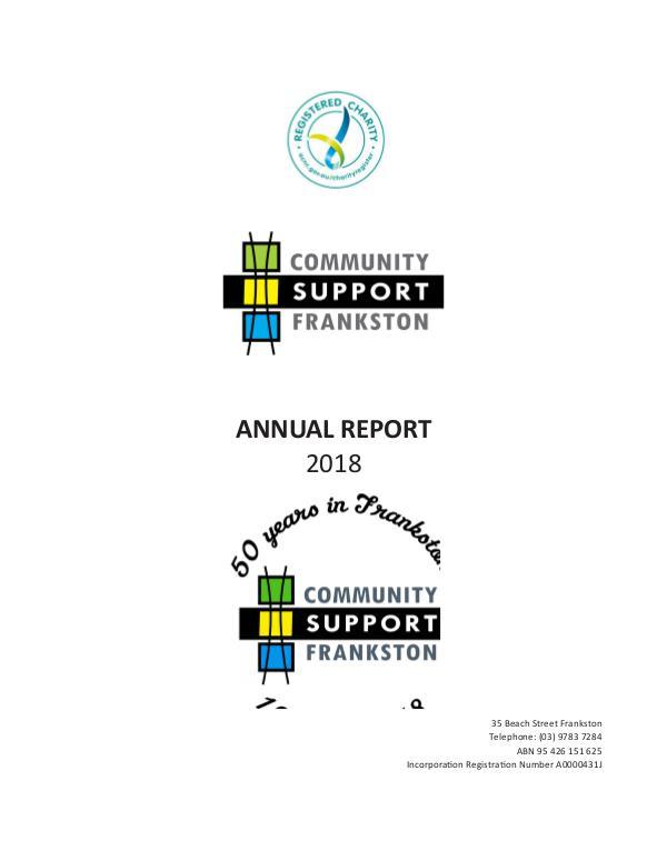 CSF Annual Report 2018 Annual Report - Final-2018