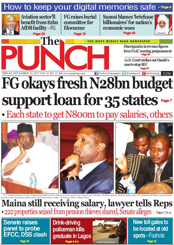 Epunchng - Most read newspaper in Nigeria Friday, November 24, 2017